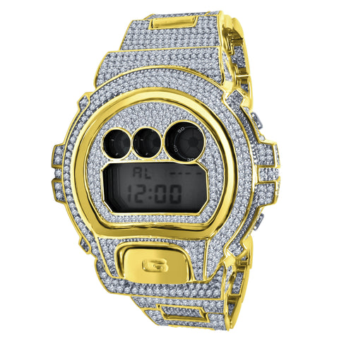 GShock Rose Gold CZ Iced out Bezel