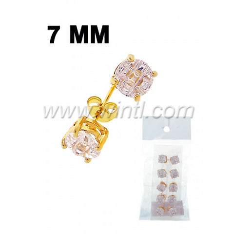 CZ diamond stud earrings