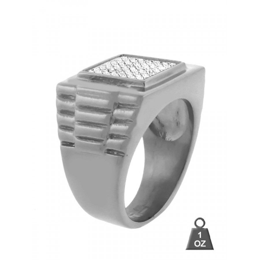 CZ Steel Ring Square 932411