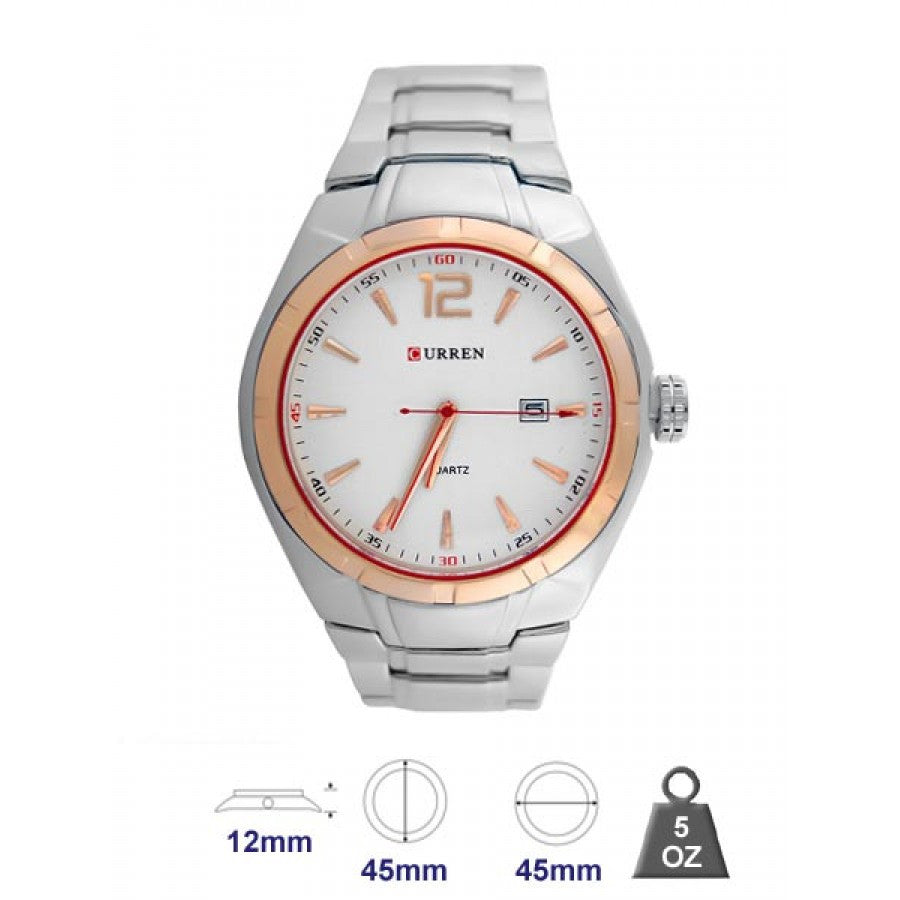 Waterproof watches metal Band for Men