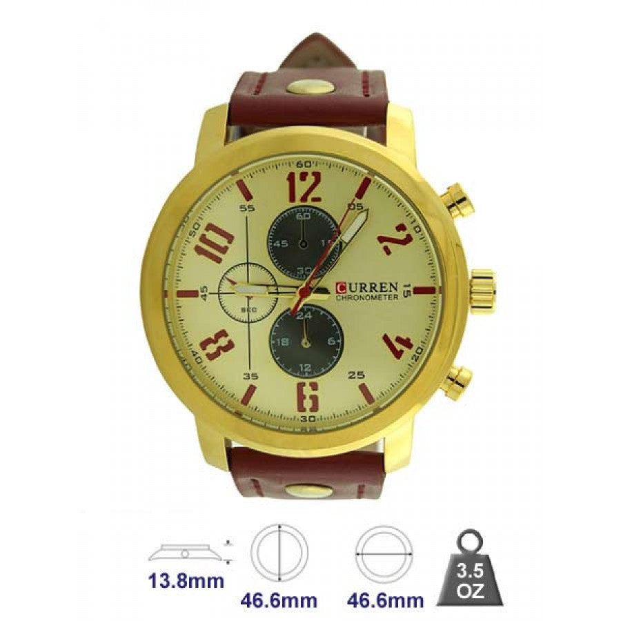 Curren leather band watch