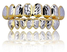 Hip Hop 14K Yellow and White Gold Plated Teeth Grillz