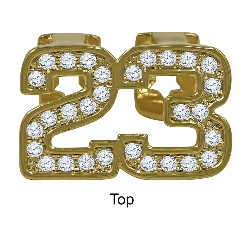 23 symbol Hip Hop Iced out Grillz