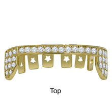 Hip Hop CZ Grillz in Silver and Gold Color--912952