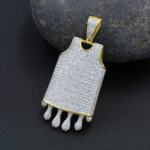 Dripping basketball Jersey 925 Pendant with CZ Stone  | 9210132