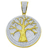 Green 925 Pendant with CZ Stone  | 9210162