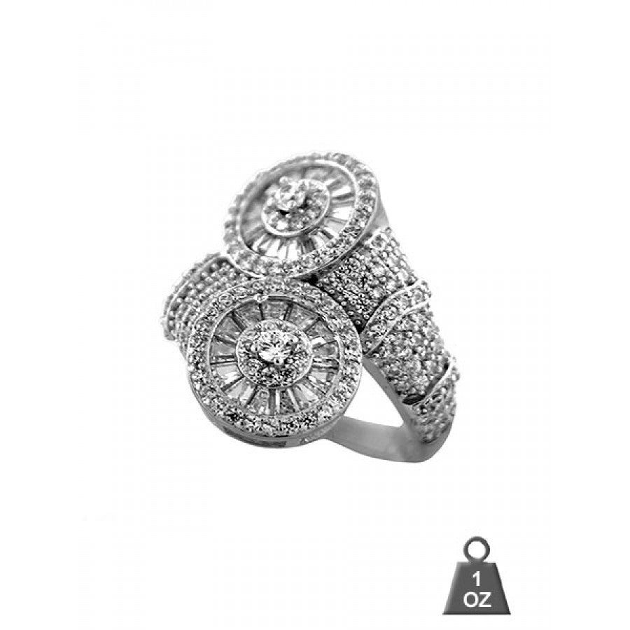 Silver Ring with cz for ladies 927371