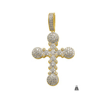 925 Gold Cluster Cross 927682