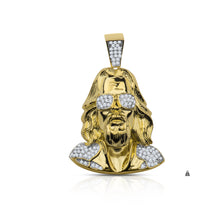Silver-Jesus with Shades-Pendant-CZ-928632