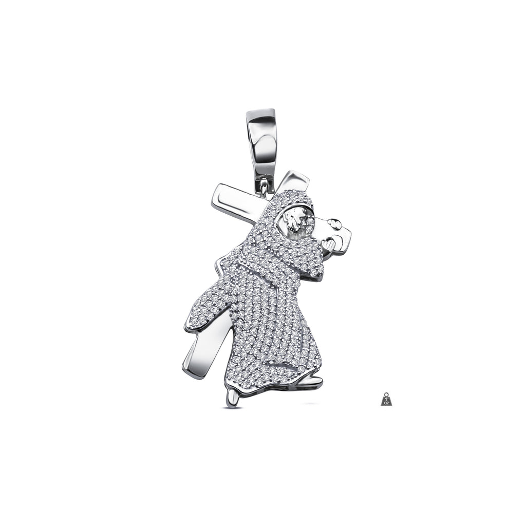 Silver jesus with cross pendant cz 928681 watches international silver jesus with cross pendant cz 928681 aloadofball Image collections