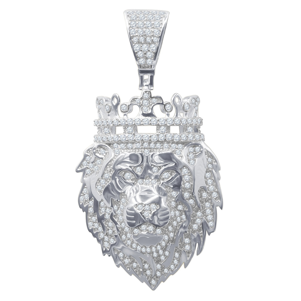 Silver Pendant with CZ Stone-929561