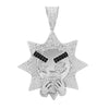 Sipping Sun Silver Pendant with CZ Stone-929957