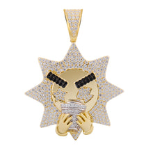 Sipping Sun Silver Pendant with CZ Stone-929958