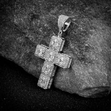 Cross Silver Pendant with CZ Stone-929981