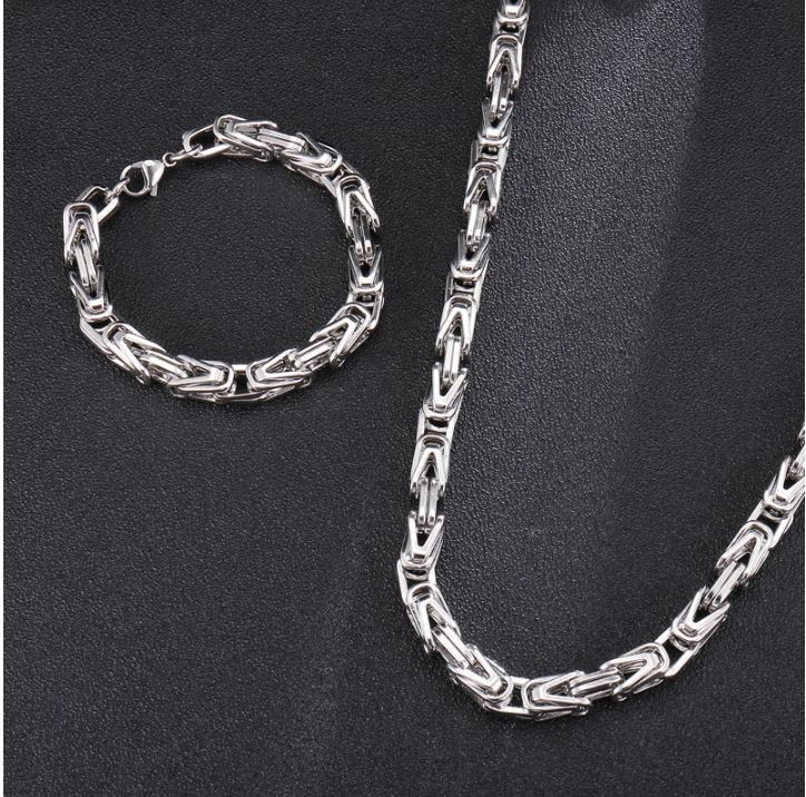 COIL 4X4MM Steel Byzantine Link Bundle | 930741