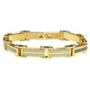 GOLD Greek Key with White CZ Bracelet 931722