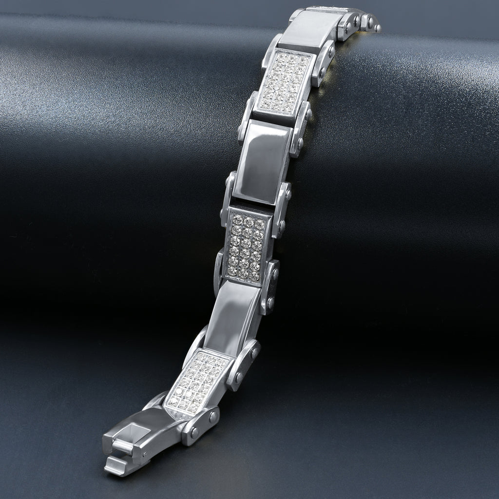 Steel Bracelet with CZ 2121-A