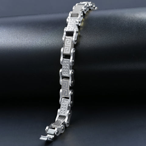 Steel Bracelet with CZ