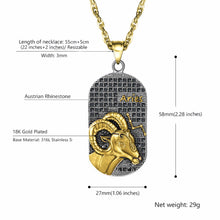 IMPERIAL Aries Stainless Steel Chain & Charm | 939052