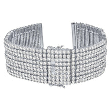 Nine(9) Row 1.5mm Cubic Zirconia 24mm CZ Watch Band-960505