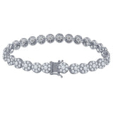 7mm CZ Flower Bracelet -961642