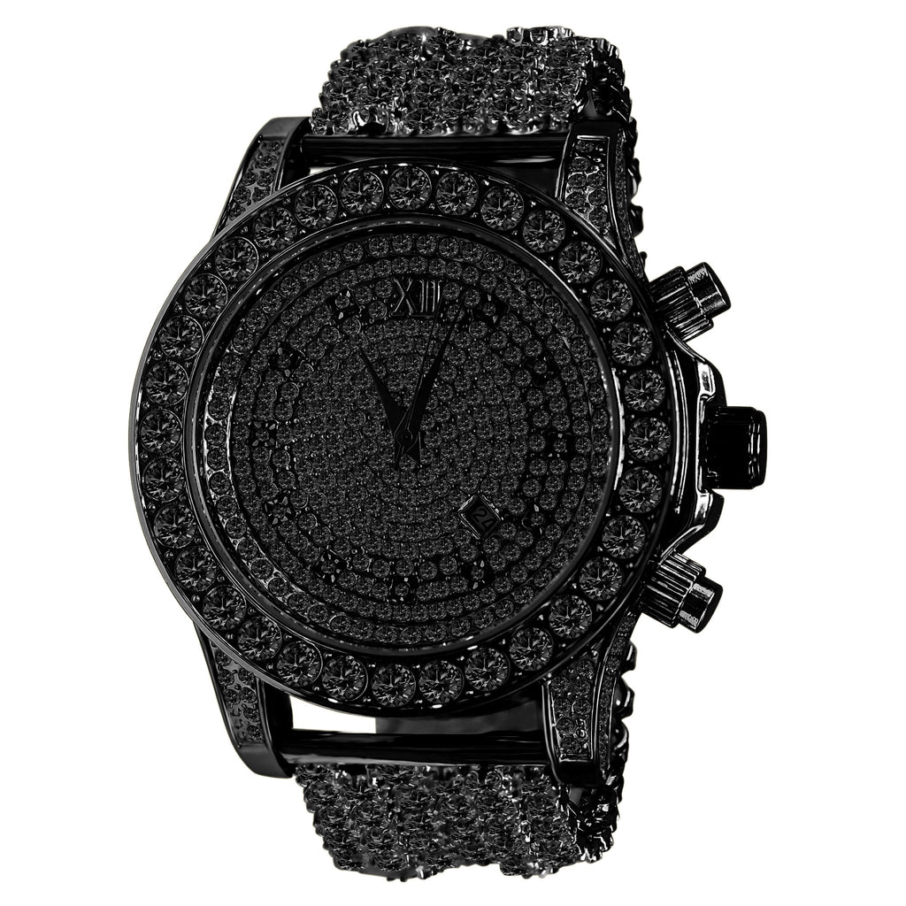 BURNISH CZ ICED OUT WATCH | 5110293