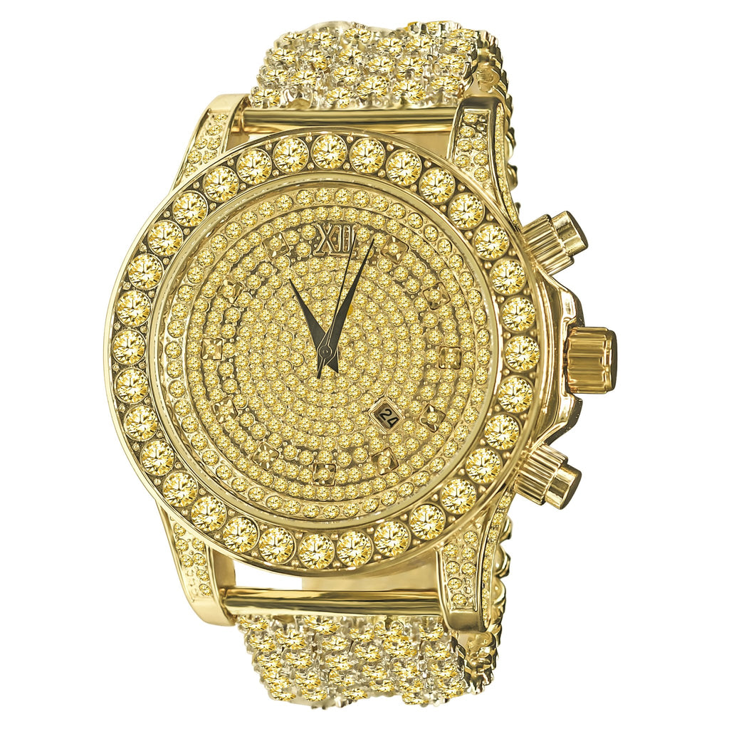 BURNISH CZ ICED OUT WATCH | 5110294