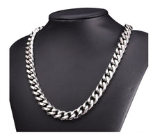 Silver Plated Brass Classic Cuban Chain