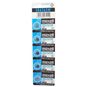 5 PCS batteries for watches-SR626SW