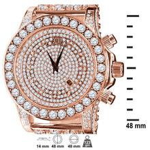 BURNISH CZ ICED OUT WATCH | 5110295
