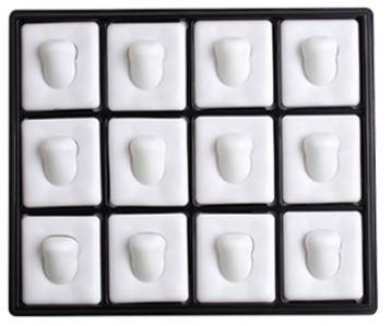 Tray with White Pads for 12 Rings 210201