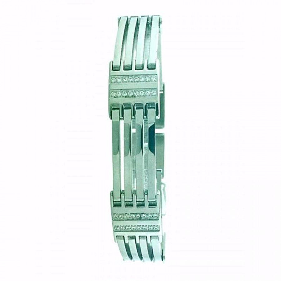 Stainless Steel bracelet with CZ 80121