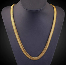 14K Yellow Gold Herring Bone Classic Korean Chain