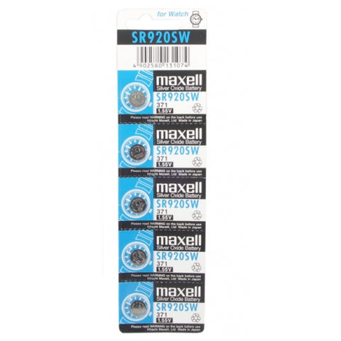 5 PCS batteries for watches-SR927SW