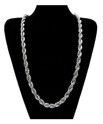 Silver Plated Solid Brass Korean Classic Rope Chain