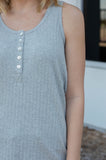 The Brett Ribbed Tank (Gray)