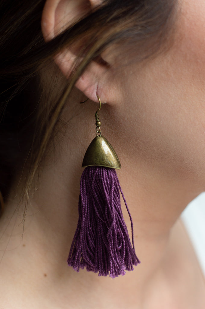 The Everyday Tassel Earring (Fig)