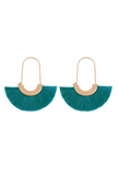 The Merry Go Round Tassel Earring (Teal)