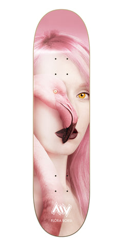 New York City Flamingo Flora Borsi Morning Wood Skateboards Deck