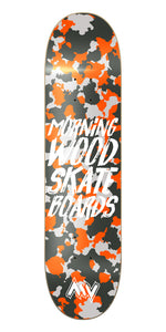 New York Orange Camo Skateboard Deck
