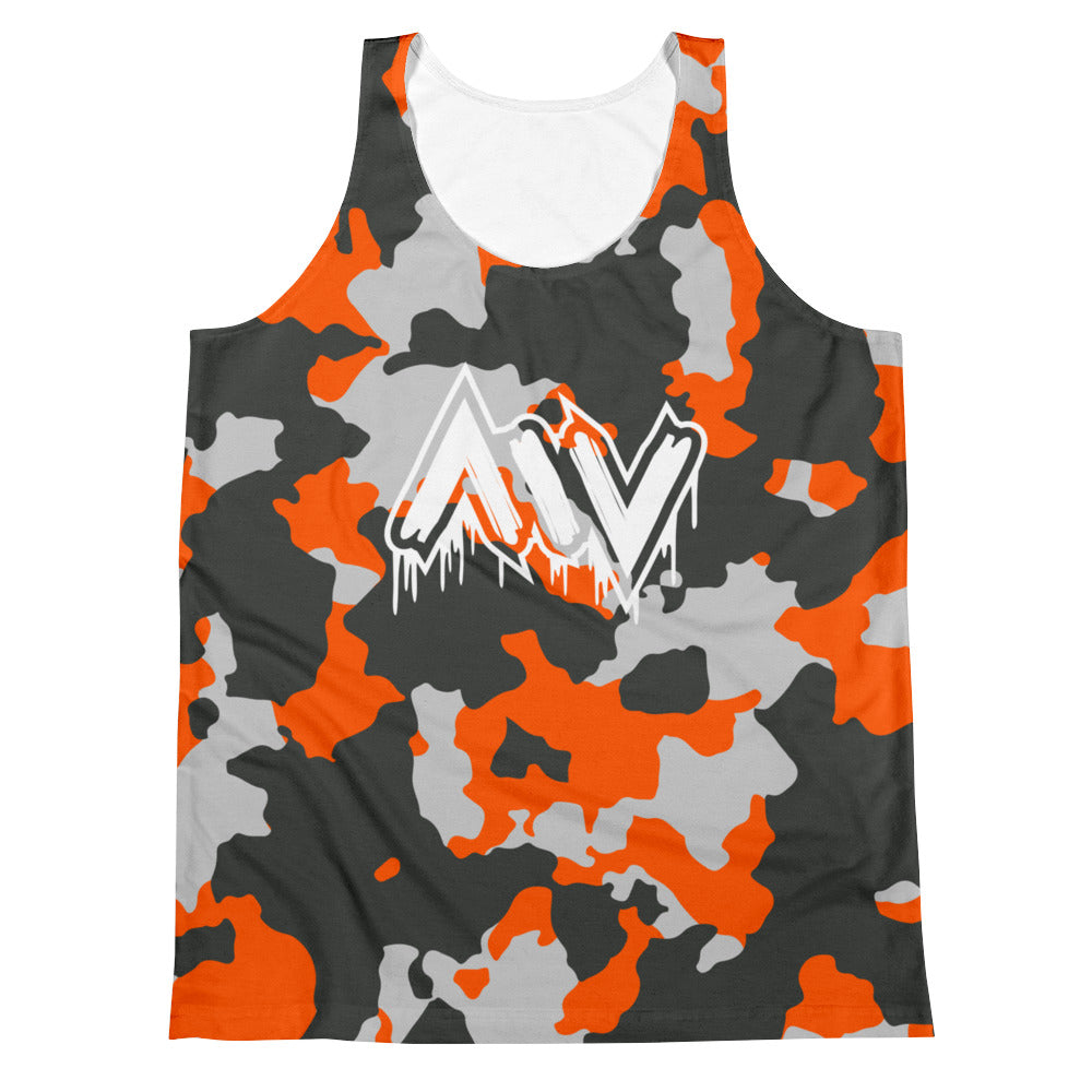 Morning Wood Skateboards New York City Orange Camo Tank Top