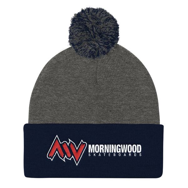 Morning Wood Skateboards New York City Pom Pom Beanie