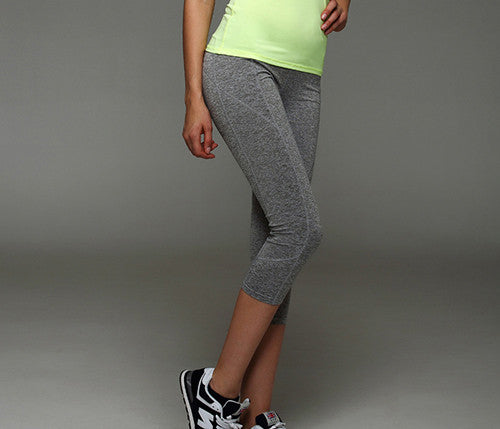 Yoga Pants Running Pants Tights Quick-Drying stretch Trousers Fitnness gym dance leggings Yoga Sport capris