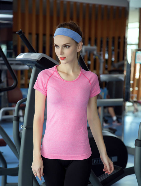 B.BANG Professional Shirt for Fitness Running Sports T shirt Short-sleeved Quick Drying Tees Jogging Exercises Tops