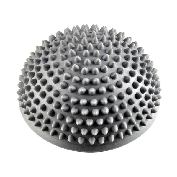 Yoga Ball  Gray PVC Inflatable Massage Point Half fit ball Balance Trainer Stabilizer GYM Pilates Fitness Balancing Bosu Ball