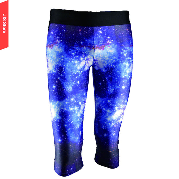 JIS Yoga Pants 3D Printing Dream Blue Star Sky With Stars Outer Space Gym Tight Fitness Leggings Pants