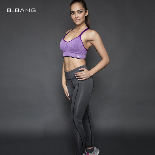 B.BANG Yoga Sports Bra Fitness Workout Gym Sportswear Bras Professional LEVEL-4 Shockproof Bras Yoga Shirts Tops for