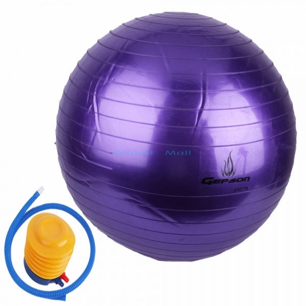 Ship From US 4 Colors Exercise Stability Bosu Ball Anti-Burst Yoga Ball Slip Resistant Body Balance Fitness Ball with Pump 65cm