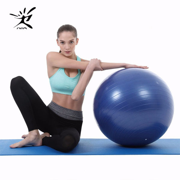 iVIM Fitness Yoga Ball Anti Burst Stability Ball Total Body Balance Exercise Ball Pump for Free Children Toy/Yoga accessory