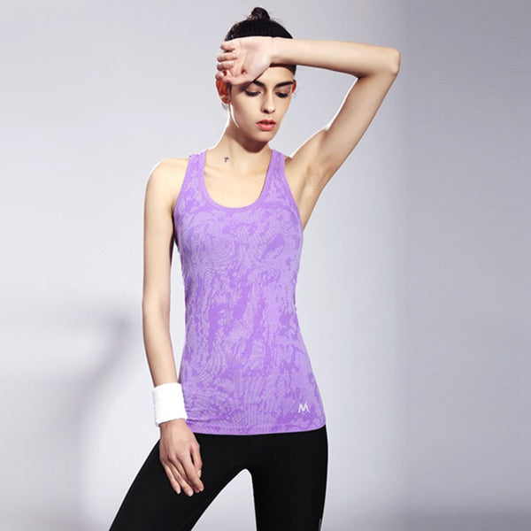 Sleeveless Breathable Quick Dry Tank Top Outdoor Sports Fitness Running Medium-long Nylon & Spandex Yoga Shirt Vest
